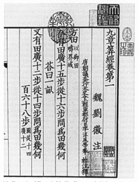 Chinese Nine Chapters on the Mathematical Art.
