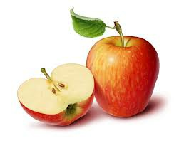One and one half apples.