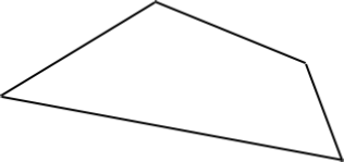 Trapezium is any Quadrilateral shape lacking parallel sides.