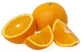 Whole, half and quarter oranges.