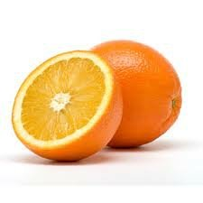 One and one half oranges.