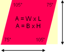 How to find the Area of a Rhombus.