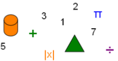Division math top right graphic